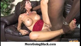 Mom with monster tits fucks a black cock 15
