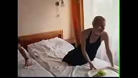 Tinny Russian Milf Bed Fuck Young Man Voyeur