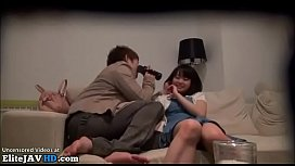Japanese cute gf has passionate sex at home