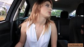 Tight teen Kristen Scott hitchhikes and banged at home