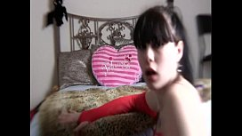 Jennique Plays with a dildo