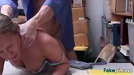 Brunette Brooke Bliss fucked in the back of the store