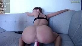Thick Pawg Teen Rides Dildo xxx video