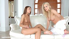 Christen Courtney licks and kisses Alexis Brill on Sapphic Erotica in lesbian se