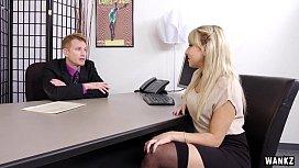 Juicy Ass Blond Secretary Valerie Exploited By Her Boss
