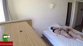 In a hotel Hidden cam and bondage RAF