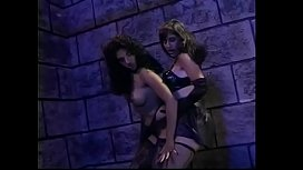 Horny beauties Lilli Xene and Alicia Rio want to experiment with each other's pussy in the castle