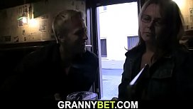 Boozed mature bitch is picked up in the pub
