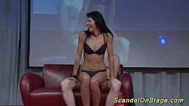 scandal lapdance on public stage