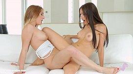 Sensual lesbian scene by Sapphix with Sasha Rose and Jimena Lago Getting socia