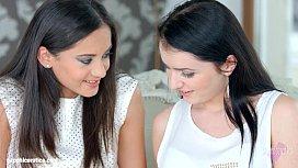 Kittina Cox and Shrima Malati in First time lesbian scene by Sapphic Erotica