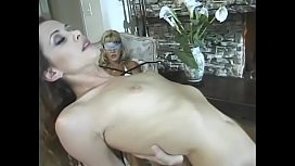 Huge cock is sucked by brunette who then gets fucked from wet cock