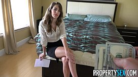 Prope ex Hot real estate agent flirts with client and fucks his big cock