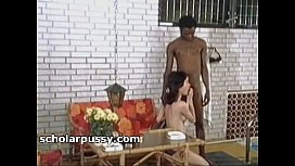 Vintage Black man nailing a woman