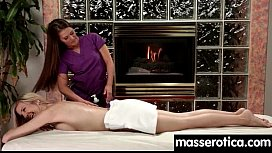 Massage therapist giving her patient some unknowing love 8 xnxx image