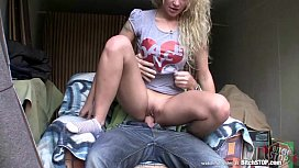 Bitch STOP - Curly blonde teen Veronika fucked in garage twiggy tallant nude