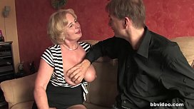 Bbvideocom Mature German lady takes a hard penis