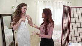Stepmom helps with the wedding dress - Syren De Mer and Elena Koshka
