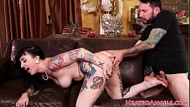 Inked babe with bigtits gets fucked perfe