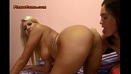 Two Horny Babes In Socks Share BBC