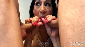 Casting amateur skinny french cougar hard DP analyzed and facialized