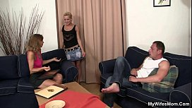 Granny fucks her daughter'_s BF and GF watches