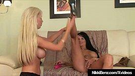Hot Penthouse Pets Nikki Benz &amp_ Alektra Blue Tongue Pussies!
