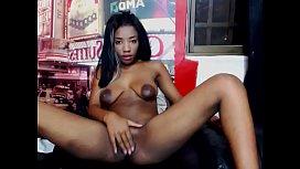 black latina with big areolas playing on cam