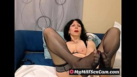 Hot Milf teasing year old on webcam MyMilfSexCamcom