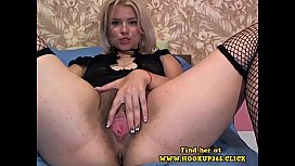 Hot Blonde with Hairy Pussy Showes All on Webcam