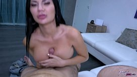 Jasmine Jae takes hot big cock in her horny wild pussy