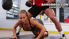 BANGBROS - Big Tits Babe Nicole Aniston Gets Her Pussy Worked Out In The Gym