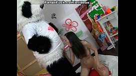 Passionate cutie fucks with big Panda sex image