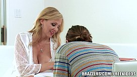 Brazzers Blonde milf Julia Ann takes young cock