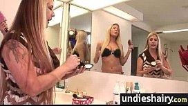 Smoking hairy pussy undies 21