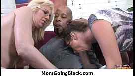 Horny mom go totally out of control sucking and fucking a black cock 22