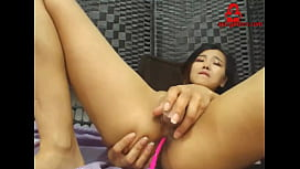 Asian Beauty Plays with Ass and Pussy