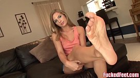 Cute Blonde Teen Sydney Cole Has Soft Fucked Feet!