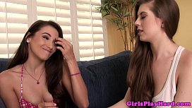 Two girls play and fuck