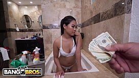 BANGBROS - Asian Maid Cindy Starfall Fucks Her Big Dick Client Derrick Ferrari