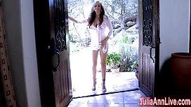 Sexy  Milf Julia Ann Comes Over & Strips Down!