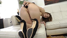 FirstAnalQuest.com - ANAL STRETCHING OF A LEGGY GIRL WITH SMALL TEEN TITS