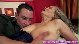 Busty european grandma pounded passionately