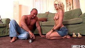 Super Sexy Blonde Hottie Erica Fontes Sucks Big Veiny Cock For Loads Of Cum