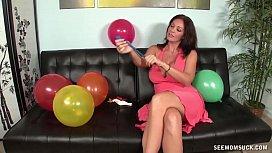Step Mom Balloon Blowjob