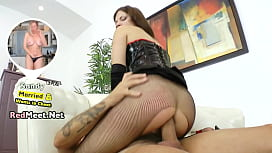 Brunette MILF ass hand full guy and massage his prostate