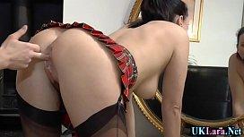 Stockings brit spunked