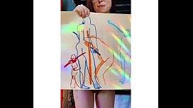 exhibicionista nos muestra su arte pict&oacute_rico