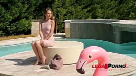 Petite glamour hottie Rebecca Volpetti deep throats & fucks monster cock GP449