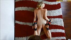 Blonde german amateur gf gets rough spanking
